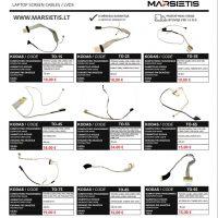 TOSHIBA nešiojamų kompiuterių ekranų kabeliai / šleifai